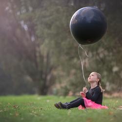 Evi met ballon