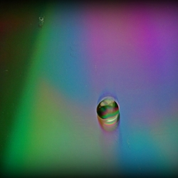 Waterdruppel op cd