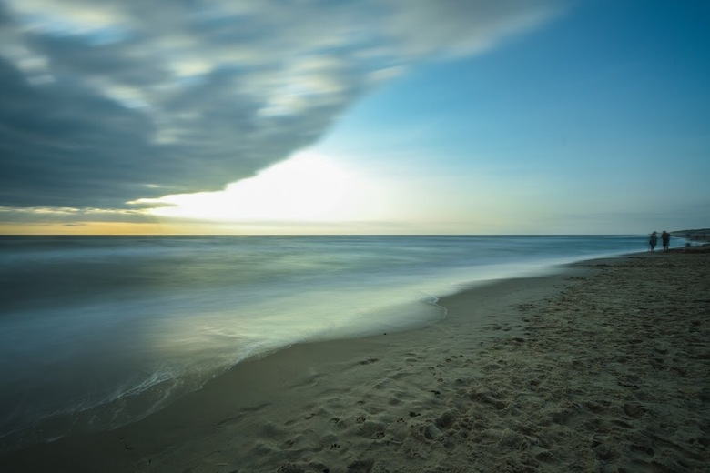 Strand lange sluitertijd
