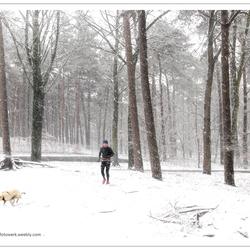 Om ter eerste in de sneeuw.....