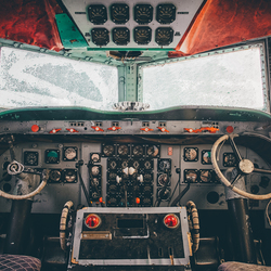 Abandoned cockpit