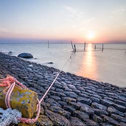 Zonsondergang over het IJsselmeer