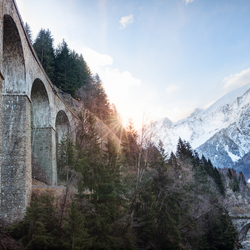 Viaduct on the mountains