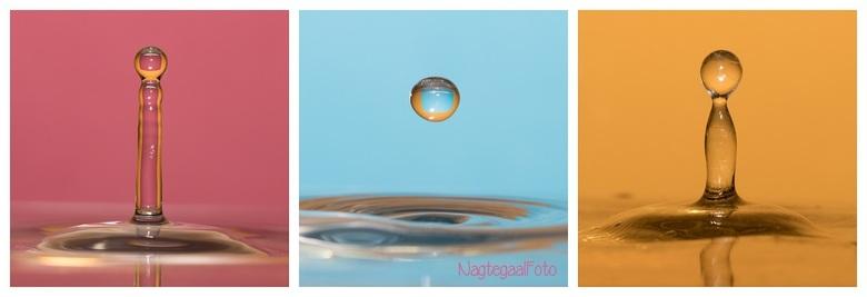 waterdruppeltjes - Timing en geduld, maar erg leuk om een keer waterdruppeltjes te fotograferen. Gewoon in de keuken op het aanrecht!