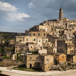 Zicht op Matera, Zuid-Italie