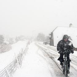 Tegen de sneeuwwind in