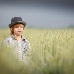 Jamie in de granenvelden