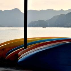 Kleurige kano's