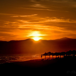 Zonsondergang in Marbella