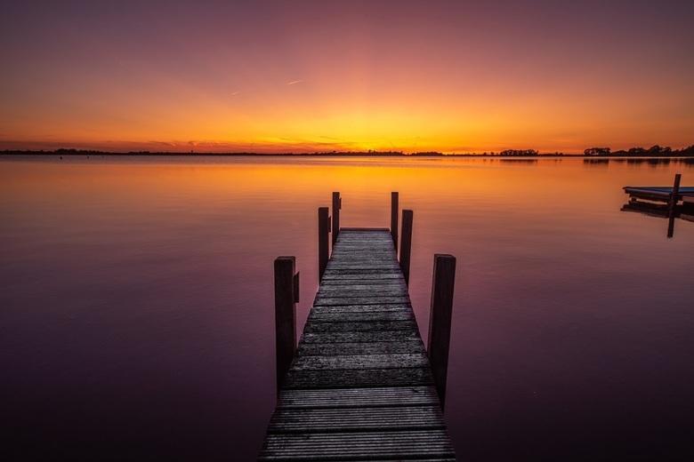 Zonsondergang Belterwijde - Felle heldere kleuren vrijdag 20/9 in Overijssel, daar was geen nabewerking voor nodig