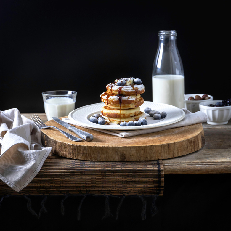 American pancakes with blueberries - American pnacakes with blueberries