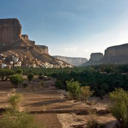 Grand Canyon maar dan bewoond. Wadi Doan , Zuid Jemen.