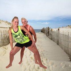 Joni en Samantha in de duinen