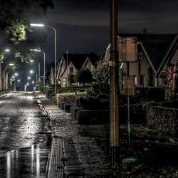 Regen in het dorp