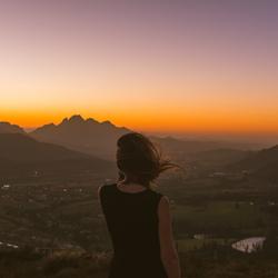 Zonsondergang, Franschoek (Zuid-Africa