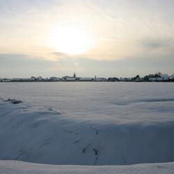 Dorp in de sneeuw