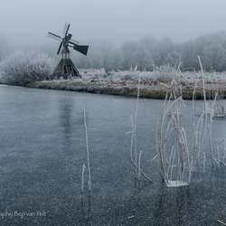 Winstil en ijzig koud