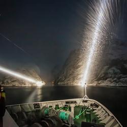 Lofoten, ingang Trollfjord