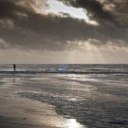 Dreigende wolken op de Noordzee