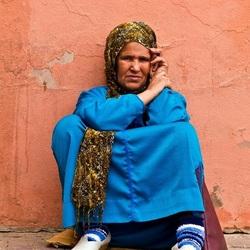 vrouw in Marrakech