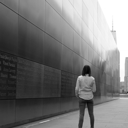 impressed by empty sky memorial
