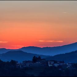Garfagnana, zonsondergang