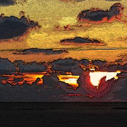 Zonsondergang op Schier