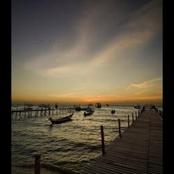 Sunset Koh Tao Harbour..