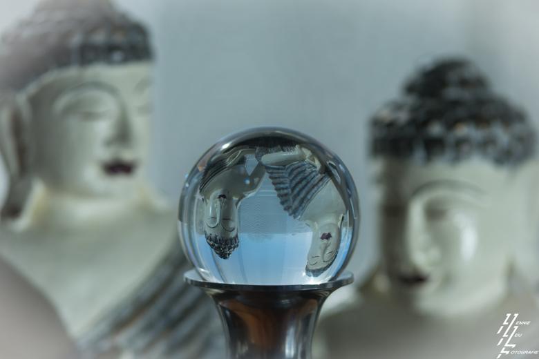 glazenbol - Eerste testen met glazenbol fotografie