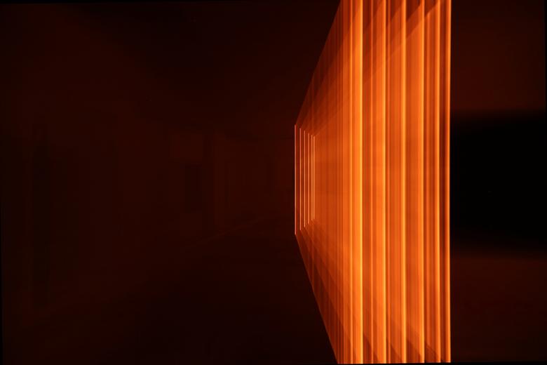 Zooming Flaming Wires 1 - Tijdens Glow 2013 in Eindhoven is deze foto genomen op Strijp S (Glow Next). <br /> <br /> Door in of uit te zoomen tijden