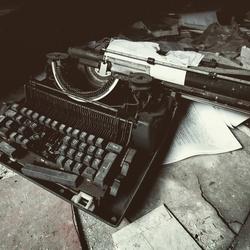 Oude typmachine.