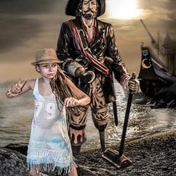Captain Haak en Bloody Mary komen aan land
