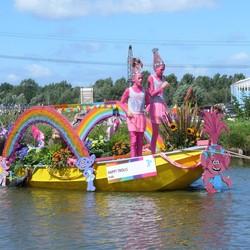 P1460254 TOETJE Pink Ribbon varend corso 2017  4 aug 2017