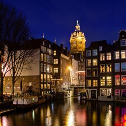 Amsterdam - Armbrug - Oudezijds Kolk - Nicolaaskerk