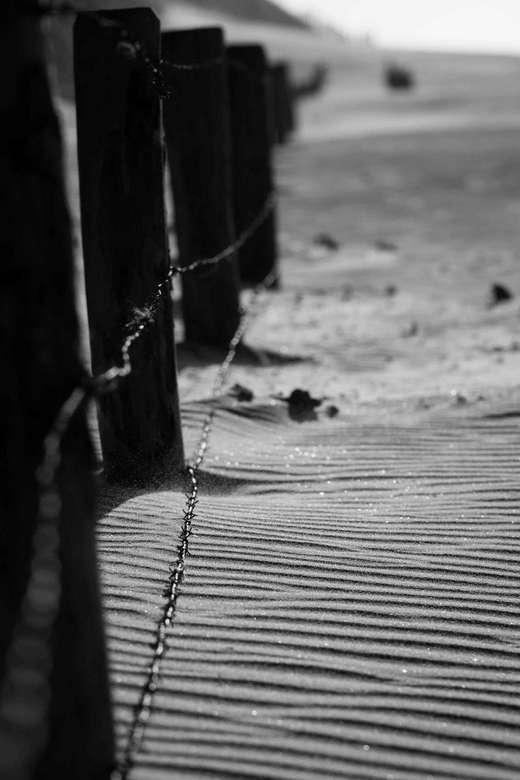 Zandstructuur - Op het strand eens wat gespeeld scherptediepte...