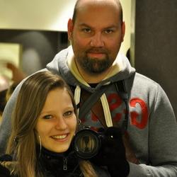 Eigen portret met dochter