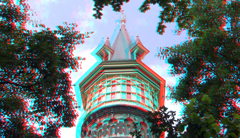 Watertoren Schoonhoven 3D - Watertoren Schoonhoven 3D<br /> anaglyph stereo red/cyan