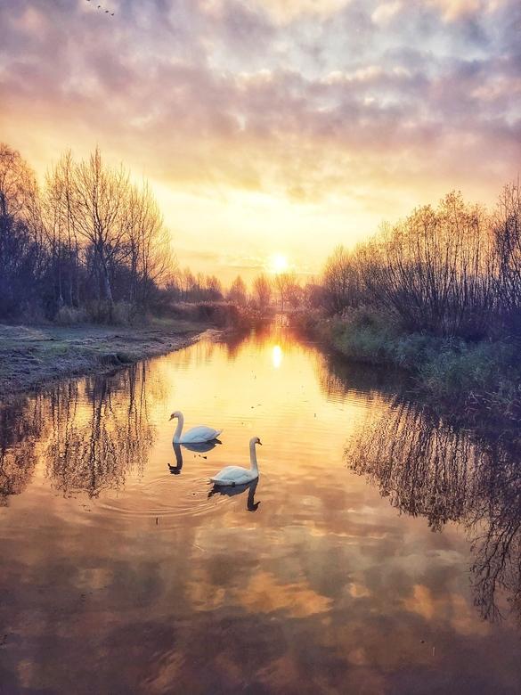 Mooie zonsopkomst -