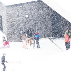 heel veel sneeuw in Konigsleiten