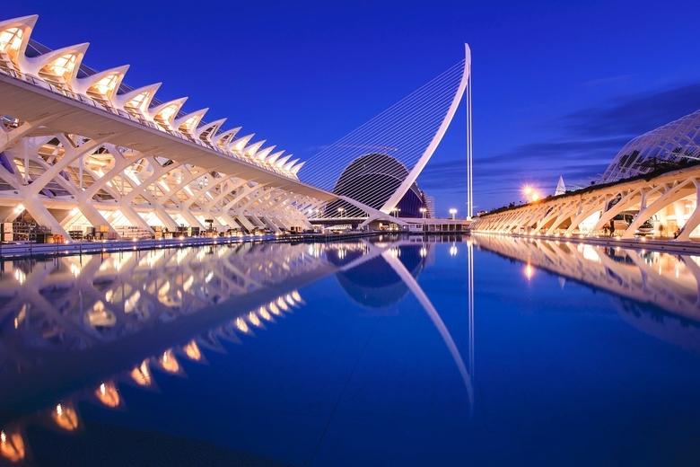Ciudad de las Artes - Als je een bezoek brengt aan Valencia, mag je deze locatie niet missen.
