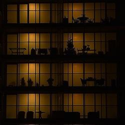 Windows of an apartment.