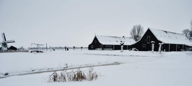 Winter schans - Foto gemaakt op de Zaanse Schans