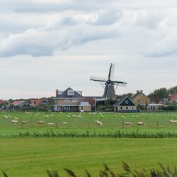 Hollands landschap op Ameland