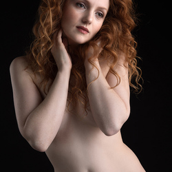 nude portrait of a redhead