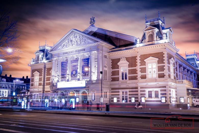 Concertgebouw Amsterdam - Nachtfoto van het concertgebouw in Amsterdam.