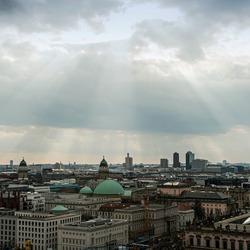 Uitzicht vanaf de Dom in Berlijn