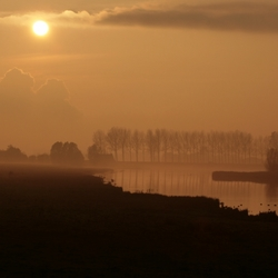 De Oosterschenge bij zonsondergang