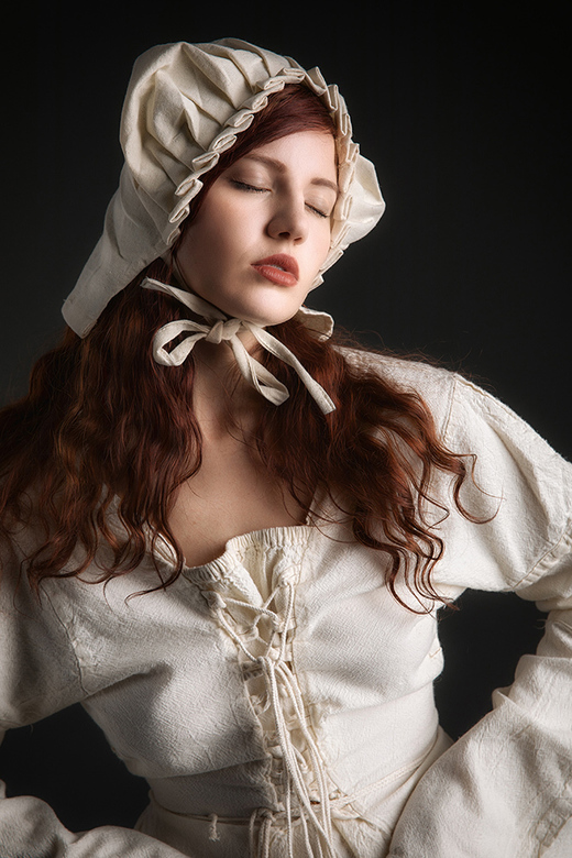 Medieval maid in thoughts