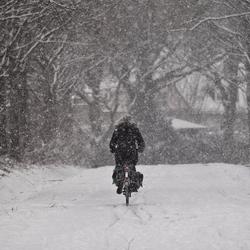 Hoe sterk is de eenzame fietser, die....