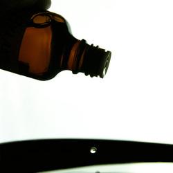 Druppel uit fles